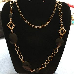C^A Gold Tone Sterling Silver Chain Necklace